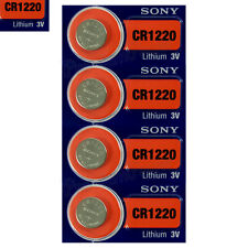 4 x SONY Lithium CR1220 batteries 3V Coin Cell DL1220 KRC1220 Watch EXP:2025