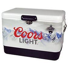 Koolatron 54 Qt. Stainless Steel Coors Light Ice Chest Cooler Clic-54 Case