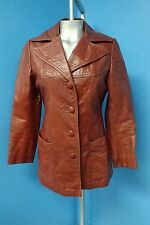 03112 Genuine Leather Classy & Chic Women's Vintage Rust Red Brown Coat Jacket