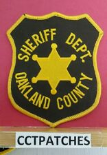 OAKLAND COUNTY, MICHIGAN SHERIFF (POLICE) SHOULDER PATCH MI 2