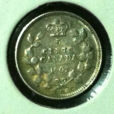 Canada   5 Cents  KM 9  XF  1902 H