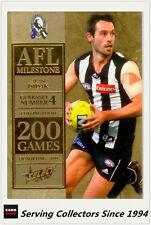 2012 Select AFL Champions Milestone Card MG15 Alan Didak (Collingwood)