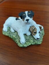 STEF Jack Russell ornament, quality figurine 2 x Jack Russells 8.5cm x 6.5cm