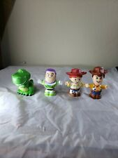 Fisher Price Little People Toy Story Figures Lot Of 4 Jesse Woody Buzz Rex