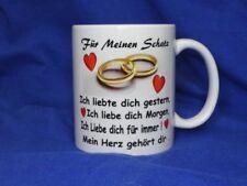 Für meinen Schatz Tasse Schatz Ehefrau Ehemann Liebe Hochzeit Valentinstag