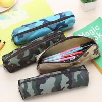 Camouflage Combat Army Green Pencil Pen Case Boys Kids School College Home Camo