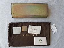 47b06af0cf Gucci Broadway Crackled Metallic Leather Clutch Original:$1,095.00