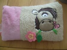 Diddl's & Friends Galupy Pink and Cream Plush Rectangular Cushion (The Horse)