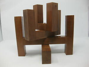 Vintage 1970s 8 Candle Wooden Candle Holder