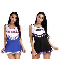 Women Cheerleader Costume School Girls Musical Outfit Fancy Dress Uniform Outfit