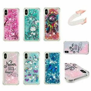 Quicksand Glitter Liquid Dynamic Flowing Case Cover Anti Fall with Pattern #24