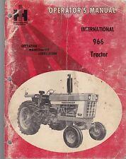 International  966 Tractor Operator's Manual