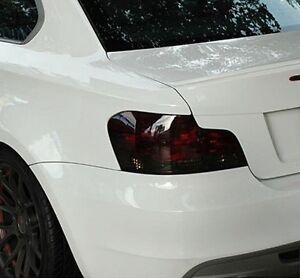 07-13 BMW E82 E88 1 SERIES SMOKE TAIL LIGHT PRECUT TINT COVER OVERLAY 128i 135i