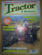 TRACTOR & MACHINERY MAGAZINE DECEMBER 1998 FERGUSON PLOUGHING