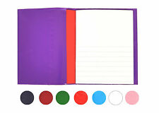 "5 Exercise Book Covers 9x7"" School Notebooks Wrap Slip On Cover Reusable Colours"