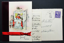 US Postal History COVER Egypt Bleiber Christmas Card inside USA lettera (h-7300