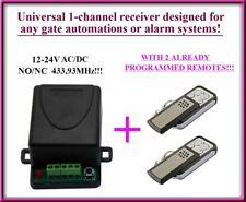 Ricevitore radio ricevente + 2 telecomandi per DASPI, DEA, SOMMER 12-24V NO/NC