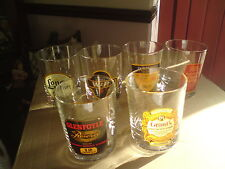 6 X BRANDED WHISKEY/WHISKY GLASSES, VGC, FREE-MAILING.