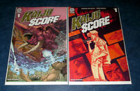 KAIJU SCORE #1 1:15 Mark A. Nelson variant & #1 A 1st print AFTERSHOCK optioned