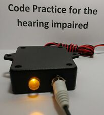 Code Practice Oscillator VISUAL only, for the hearing impaired, CW morse