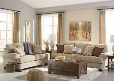 BLYTHE Traditional Living Room Beige Chenille Oversize Sofa Couch Loveseat Set