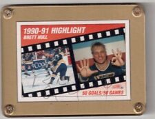 1990-91 Score Highlight Card # 412  Brett Hull St Louis Blues Autographed