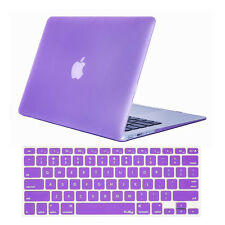 """Rubberized Crystal Hard Shell Case + Keyboard Cover For Macbook White 13"""" A1342"""