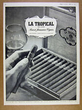 1951 LA TROPICAL DeLuxe Jamaican Cigars box photo vintage print Ad