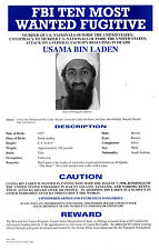 Framed Print - FBI Most Wanted Osama Bin Laden (Picture Poster Terrorist ISIS)