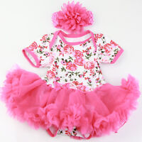 """Reborn Baby Girl Doll Clothes Newborn Clothing for 22"""" Baby Not Included Doll"""