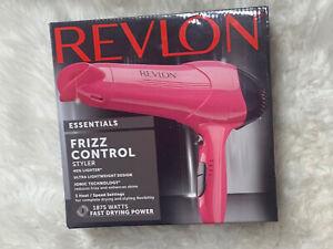 REVLON Essentials Frizz Control Hair Dryer/Styler PINK
