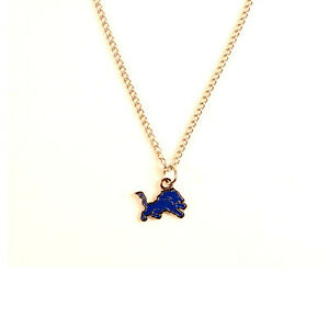 DETROIT LIONS - NFL Team Logo Necklace with Chain - FREE U.S. Shipping !