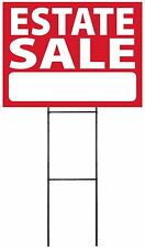 """Large (18""""x24"""") Estate Sale - Red - Sign Kit with Stand"""