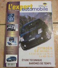 revue technique l'expert automobile l'ea N°440 CITROEN C2 + FICHES TECHNIQUES