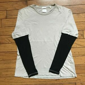 Vintage Helmut Lang hybrid long sleeve t shirt