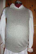 BNWT MATERNITY Ladies Pale Grey Wool/Cashmere Blend Tank Top Size L - 14-16