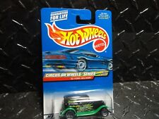 2000 Hot Wheels #26 Black '32 Ford Delivery w/Lace Wheels Metal Base