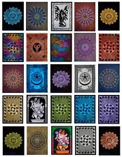 "Hippie Boho Cotton Poster Size Yoga Mat Table Cloth 30X40"" Indian Handmade Sale"