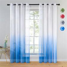 """Gradient Color 2 Panel Window Drapes Grommets Sheer Voile Curtain 54 63 84 95""""L"""