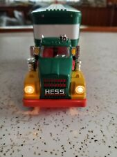 HESS TRUCK 1975 BOX TRUCK WITH WORKING LIGHTS. VERY GOOD CONDITION. THREE BARREL