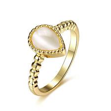 OR OPALE imitation Grand femmes Nuptial mariage diamètre de l'anneau 18 mm