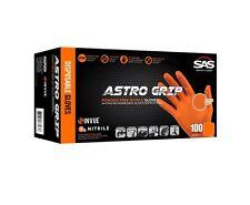 SAS 66573 Astro Grip Powder Free Orange Nitrile Glove - Large
