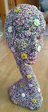HANDMADE LONG NECKED FEMALE jelly GEM ENCRUSTED HEAD ORNAMENT - fab! 23x18X50cm