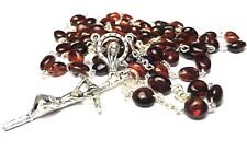 Amber Rosary Genuine Natural Baltic 5mm bead 18 inch long Hail Mary avemaría