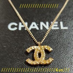 CHANEL Necklace AUTH Coco Mark chain Vintage Rare 02C Gold L53cm Cute Gift F/S