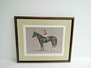 "1983""Ruffian""-Jacinto Vasquez UP-Jenness Cortez Signed Print-Horse Racing-Framed"