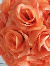 Orange Rose Flower Pomander Wedding Kissing Ball 11-12 inches USA Seller