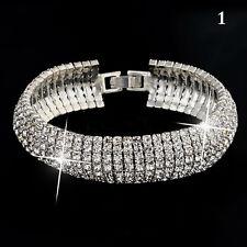 Fashion Charm Women Crystal Rhinestone Cuff Bracelet Bangle Jewelry Gift