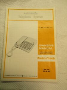 Radio Shack Telephone 43-290 DUOFONE -16 Manual