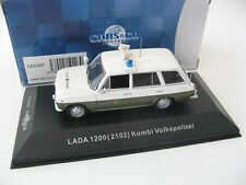 "LADA 1200 Kombi (ВАЗ 2102) ""VOLKSPOLIZEI"" (White and Green) 1975 1/43 CARS&CO"